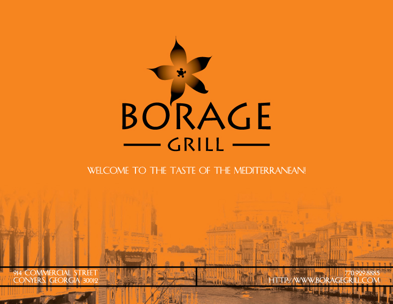 Borage Grill Menu
