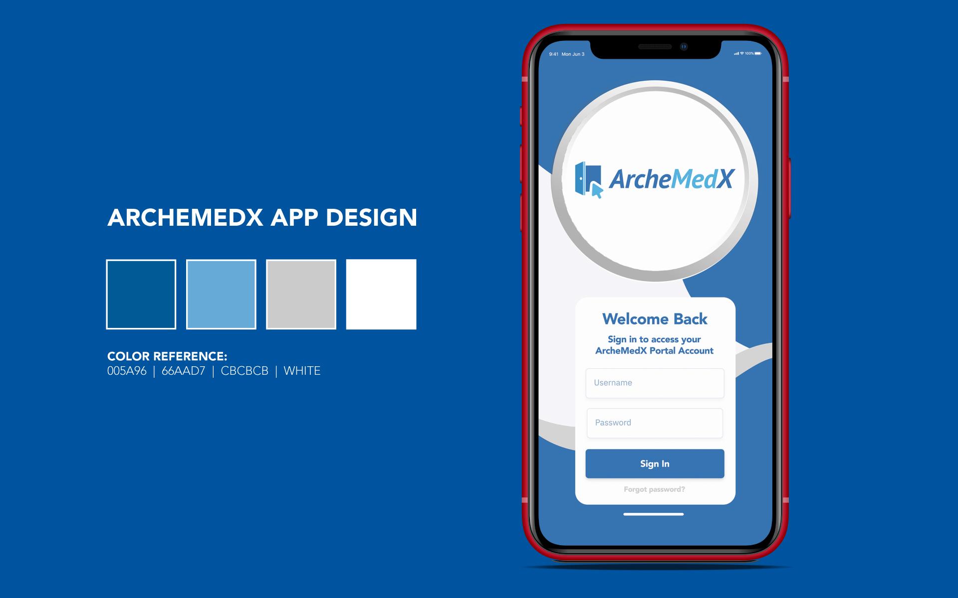 ArcheMedX App Design
